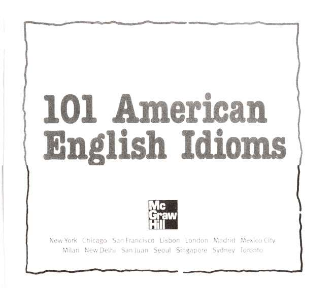 2. Findzon 101 AMERICAN IDIOMS
