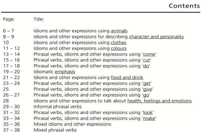 Nội dung của Phrasal Verbs & Idioms